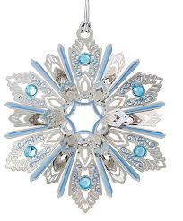 jeweled snowflake ornament traditional ornaments