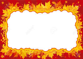 pumpkins border clipart autumn border border with many maple leaves and ornate elements