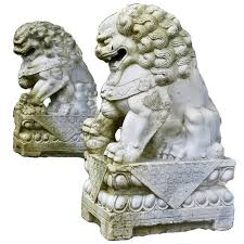 foo lions for sale antique pair of 19th century carved white marble
