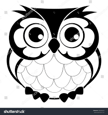 cute decorative vector owl line drawing stock vector 496405423