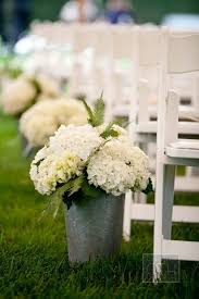 hydrangea flowers decoration for the aisle wedding ceremony