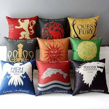 Sofa Cushion Cover Replacement by 9 Styles Sofa Cushion Covers Game Of Thrones Ice And Fire Pillow
