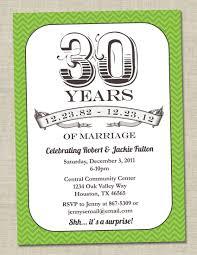 30th anniversary invitation green emerald vintage anniversary