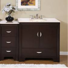 54 inch modern single bathroom vanity with choice of counter top