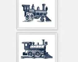 train wall art etsy