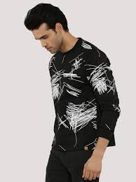 buy sweatshirt with abstract graphic for men men u0027s black