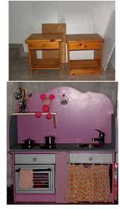 cuisine pour bebe réalisation d une cuisine pour enfant à partir de deux chevets en