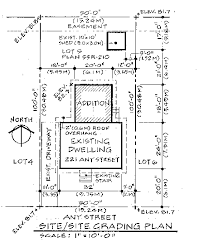 site plan or survey requirements