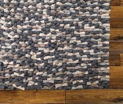 Felt Area Rugs Mats Inc Wool Felt Tufted Black Brown Area Rug Reviews