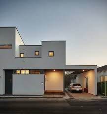 Small Modern House Designs by Small Two Story House With Efficient Interior Circulation Idea