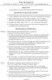 Resume Examples For Management by Resume Senior Manager Telecommunications Susan Ireland Resumes