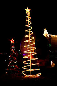 outdoor spiral christmas trees christmas lights decoration
