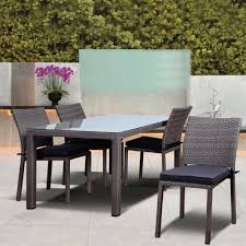 Home Depot Charlottetown Patio Furniture - martha stewart living charlottetown natural 5 piece all weather