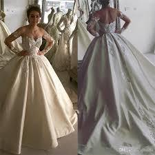 wedding dressing 2018 new design gown lace wedding dresses satin shoulder