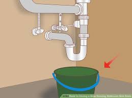 Ways To Unclog A Slow Running Bathroom Sink Drain WikiHow - Clogged bathroom sink