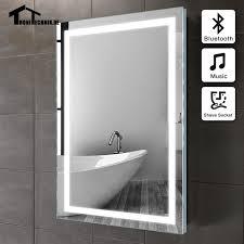 bluetooth bathroom mirror 50x70cm frame illuminated mirror wall bluetooth bath mirror in
