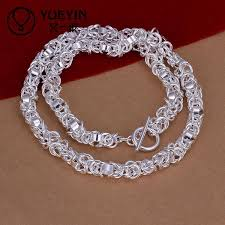sterling silver necklace sale images 2018 heavy 75g sterling silver necklace fit men dfmn060 18 inches jpg