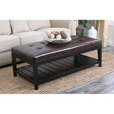 furniture wonderful leather tufted ottoman coffee table with