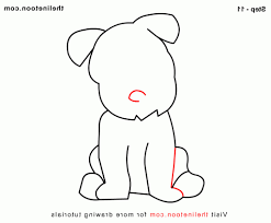 simple dog drawings step by step how to draw a dog easy simple for