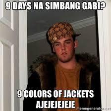 Simbang Gabi Memes - 9 days na simbang gabi 9 colors of jackets ajejejejeje scumbag