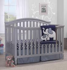 Fire Truck Nursery Decor by Sorelle Berkley 4 In 1 Convertible Crib And Changer Grey