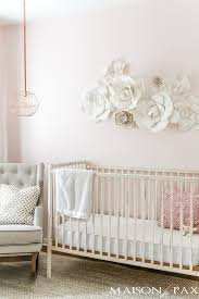 Decorating Nursery Walls Paper Flower Wall In The Nursery Maison De Pax