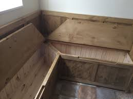 Corner Bench Seating With Storage How To Build A Corner Storage Bench Ebay With Regard To Fabulous