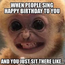 Birthday Weekend Meme - when people sing happy birthday to you and you just sit there like