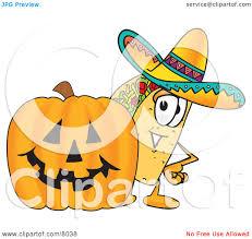 halloween pumpkins cartoons clipart picture of a taco mascot cartoon character with a carved