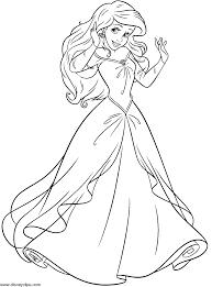 smart idea ariel coloring walt disney coloring pages princess