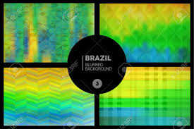 Geometric Flag Geometric Blurred Backgrounds Set In Brazil Flag Concept Used