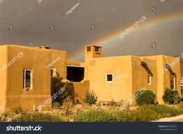 Adobe House by Rainbow Over Adobe House Stock Photo 357035810 Shutterstock