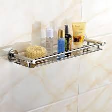 shower shampoo cosmetic holder storage shelf stainless steel
