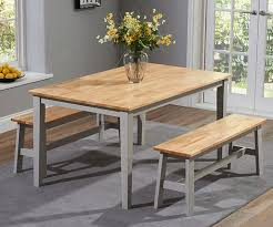 Oak Table And Chairs Bench Dining Table With 2 Benches Mark Harris Chichester Oak And