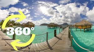 bora bora u0027s overwater bungalows in 360 video vr youtube