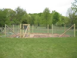 fence for home gardens using fencing wire u0026 chicken netting the