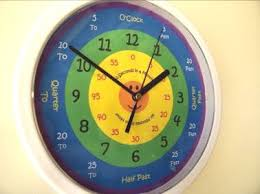 time learning clock learn to tell time what the time clock by 25cm ebay