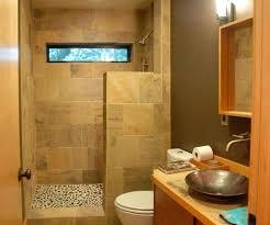 Shower Designs Without Doors Walk In Shower Without Door Tiled Shower Cabin With Flower In It