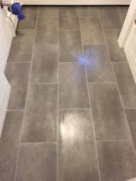 Bathroom Flooring Vinyl Ideas 1 08 Sq Ft Trafficmaster Ceramica 12 In X 24 In Coastal Grey