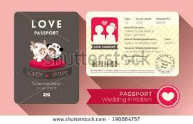 Design Of Marriage Invitation Card Passport Wedding Invitation Card Design Template Stock Vector