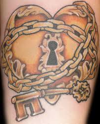 heart lock tattoo design tattooshunt com