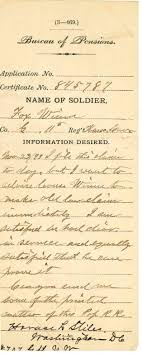 bureau des pensions civil war pensions archives harvey county historical society