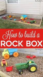 How To Make A Rock Patio by Building A Sandbox For Under 100 Landscape Fabric Sandbox And