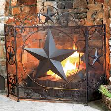 western furniture lone fireplace screen lone western decor