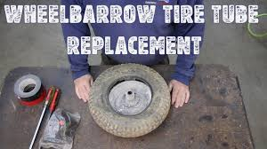 Do Car Tires Have Tubes Wheelbarrow Tire Tube Replacement Youtube