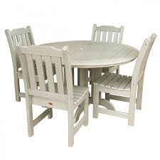 48 In Round Dining Table Lehigh 5pc Round Dining Set Outdoor Furniture Patio Furniture