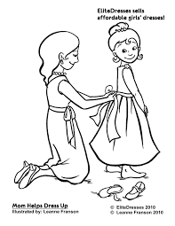 dress coloring pages exprimartdesign
