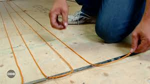 how to install electric heat under tile youtube
