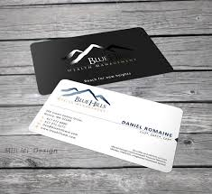 New Business Cards Designs Blue Hills Wealth Management Really Needs A New Business Card