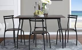 Wenge Living Room Furniture Coavas 5pcs Dining Table Set Kitchen Furniture